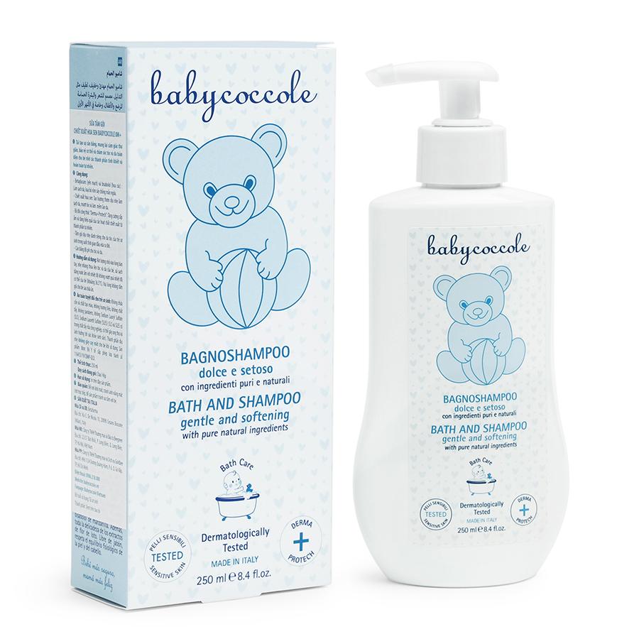 Sữa tắm gội chiết xuất hoa sen Babycoccole 0M+
