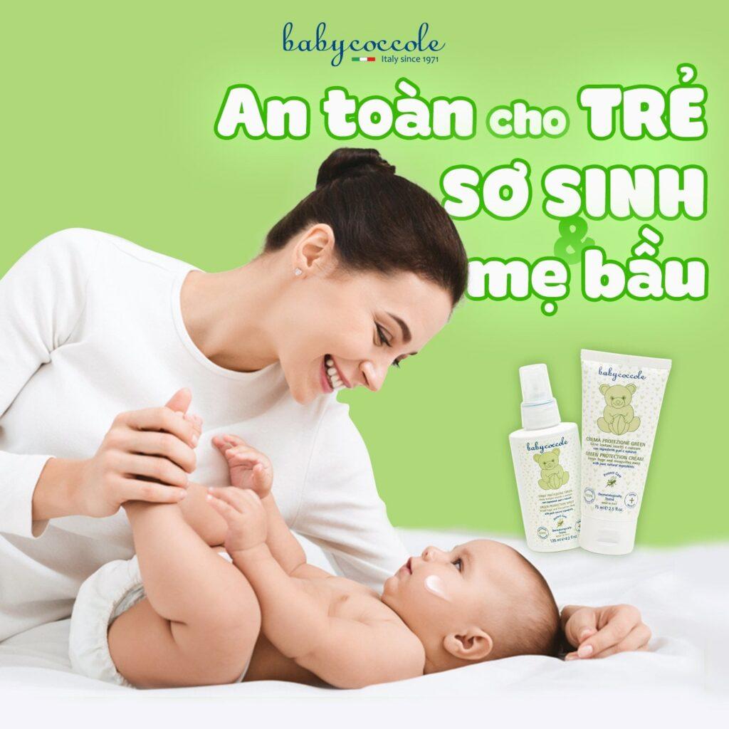 chống muỗi cho bé sơ sinh